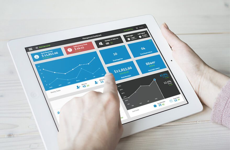 facility software on tablet