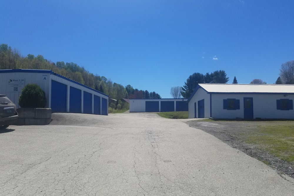 storage facility with wide driveway