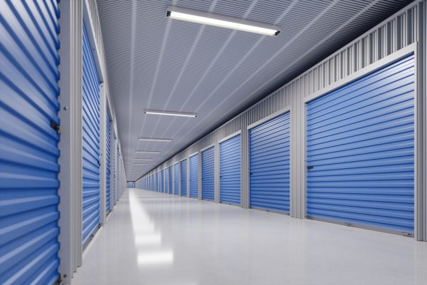 Interior of a modern self storage warehouse